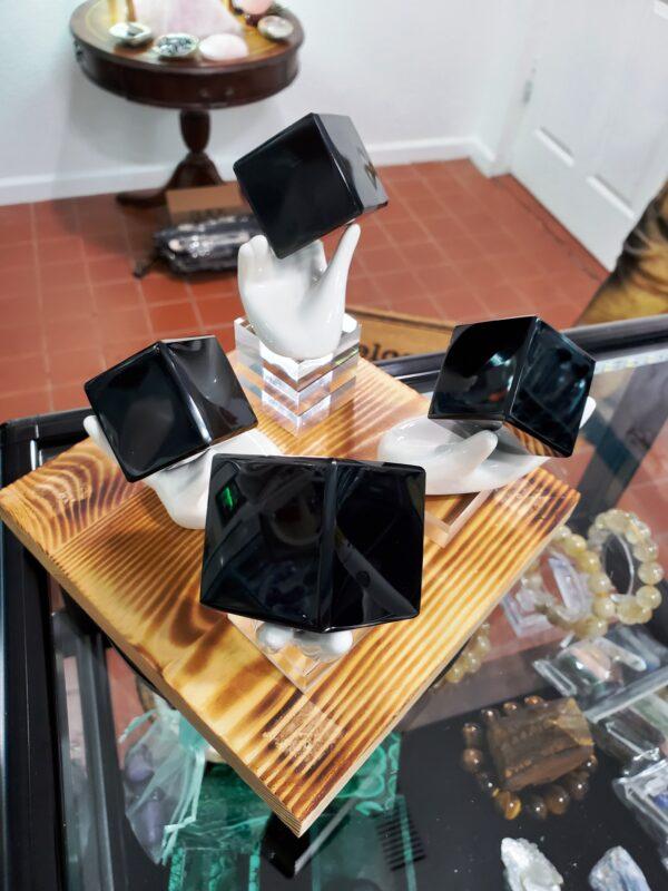 Black Obsidian Cubes w_Hands D