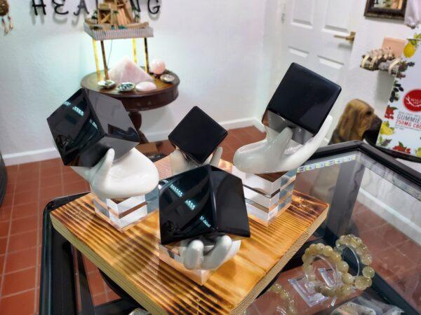Black Obsidian Cubes w_Hands E