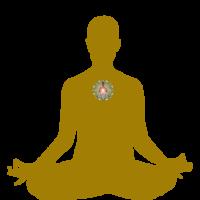 GOLD Lotus Chakras GREEN HEART